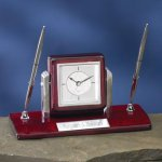 Dual Clock Pen Holder Secretary Gift Awards